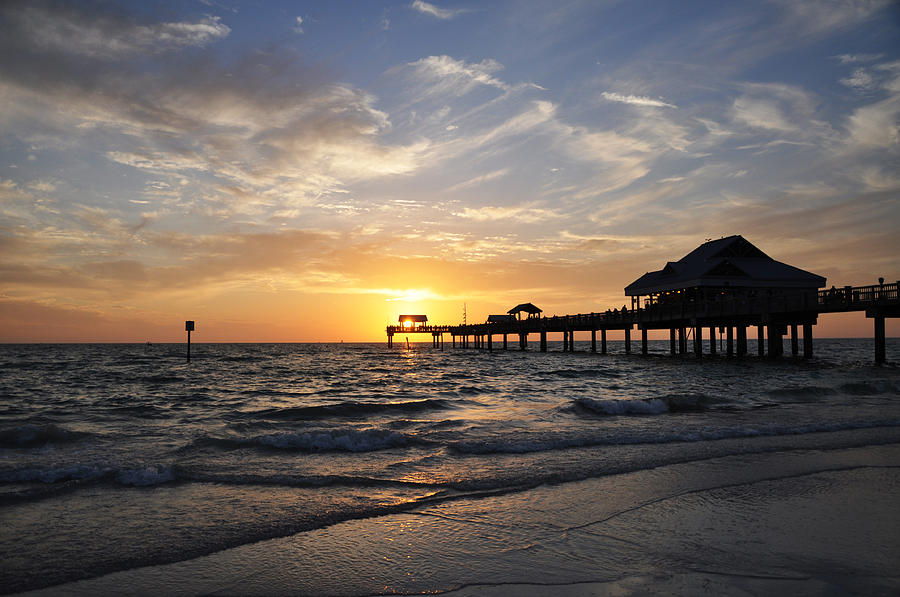 Sunset At Clearwater Photograph  - Sunset At Clearwater Fine Art Print