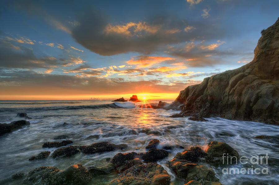 Sunset At Crescent Bay Beach Photograph