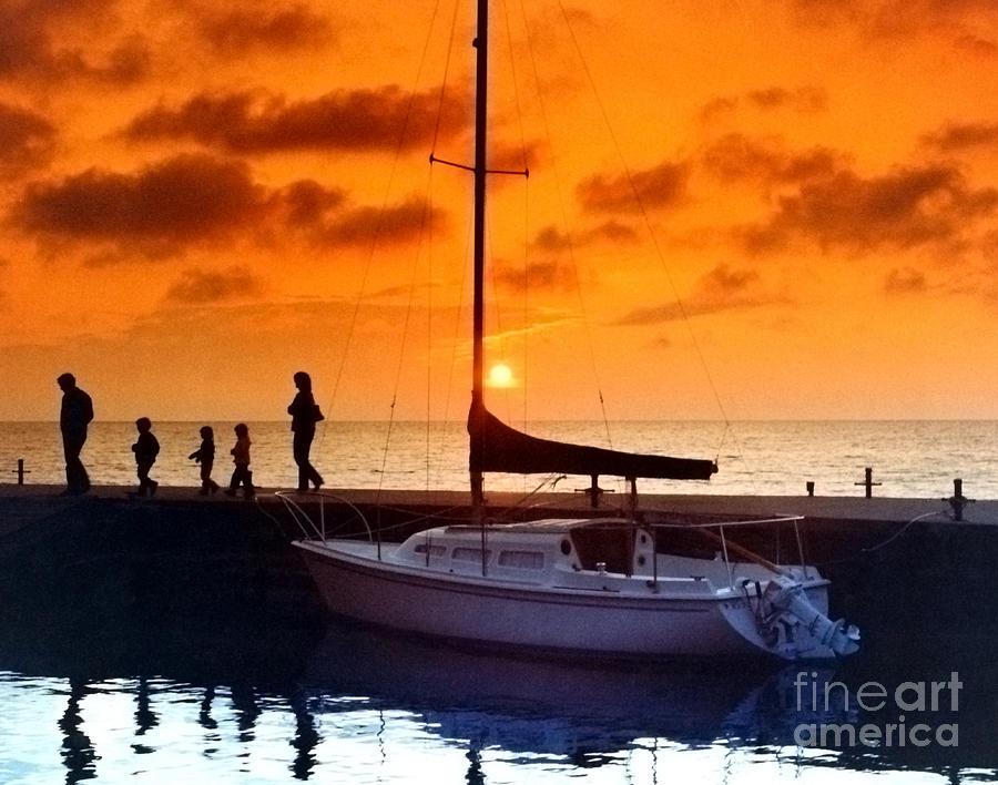 Sunset At Egg Harbor Dock Wisconsin Photograph