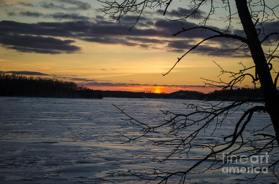 Sunset at fish trap lake photograph by robert condon for Fish trap lake mn