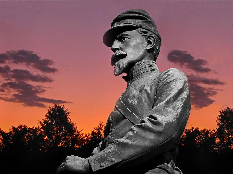 Sunset At Gettysburg Photograph