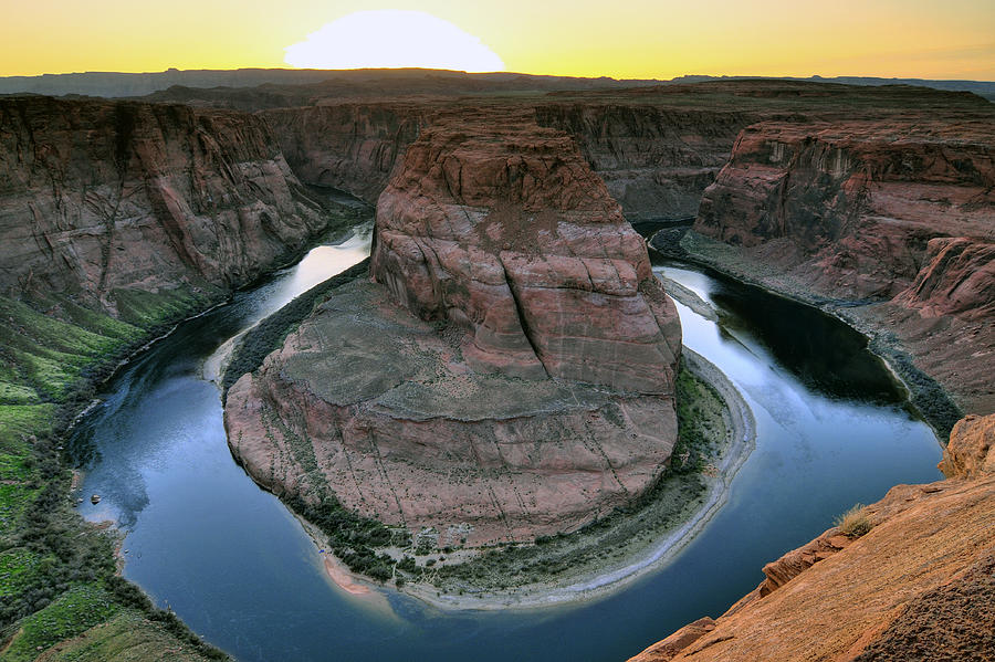 Sunset At Horseshoe Bend Photograph  - Sunset At Horseshoe Bend Fine Art Print