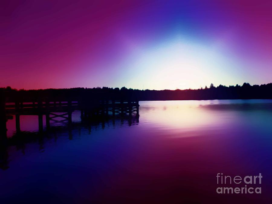Sunset At Lake Ballinger Park In Mountlake Terrace Washington Photograph  - Sunset At Lake Ballinger Park In Mountlake Terrace Washington Fine Art Print