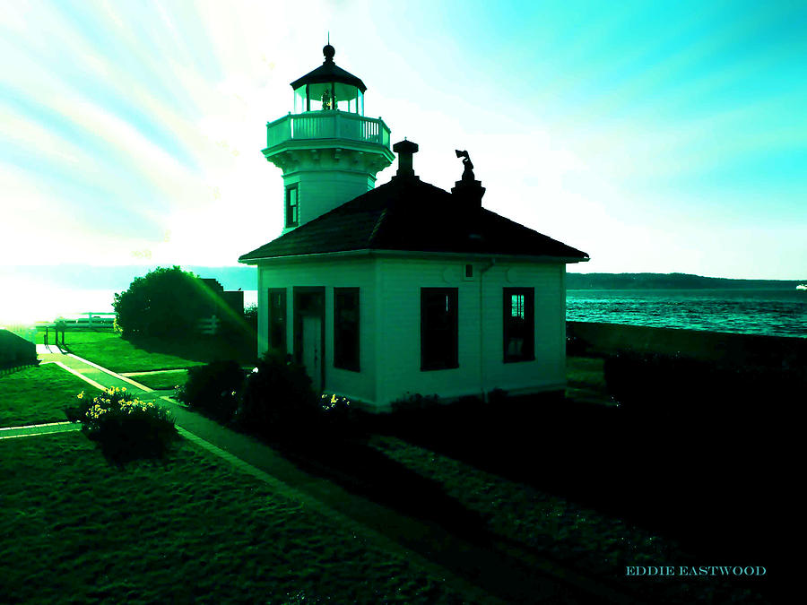 Sunset At Mukilteo Lighthouse Park  Photograph  - Sunset At Mukilteo Lighthouse Park  Fine Art Print