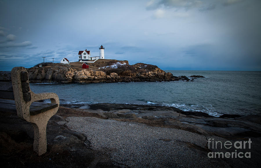 Sunset At Nubble Light House Photograph  - Sunset At Nubble Light House Fine Art Print