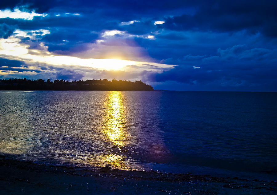 British Columbia Photograph - Sunset At Parksville Beach by Christi Kraft