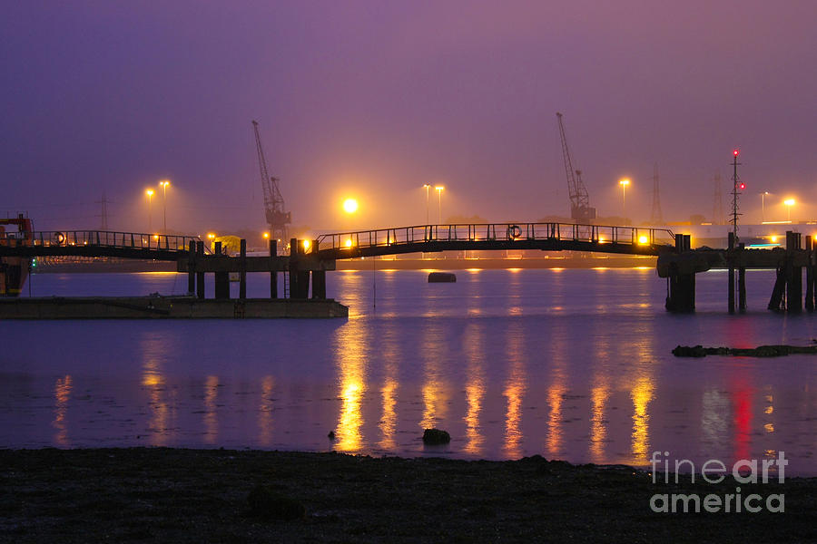 Sunset At Southampton Docks Photograph  - Sunset At Southampton Docks Fine Art Print