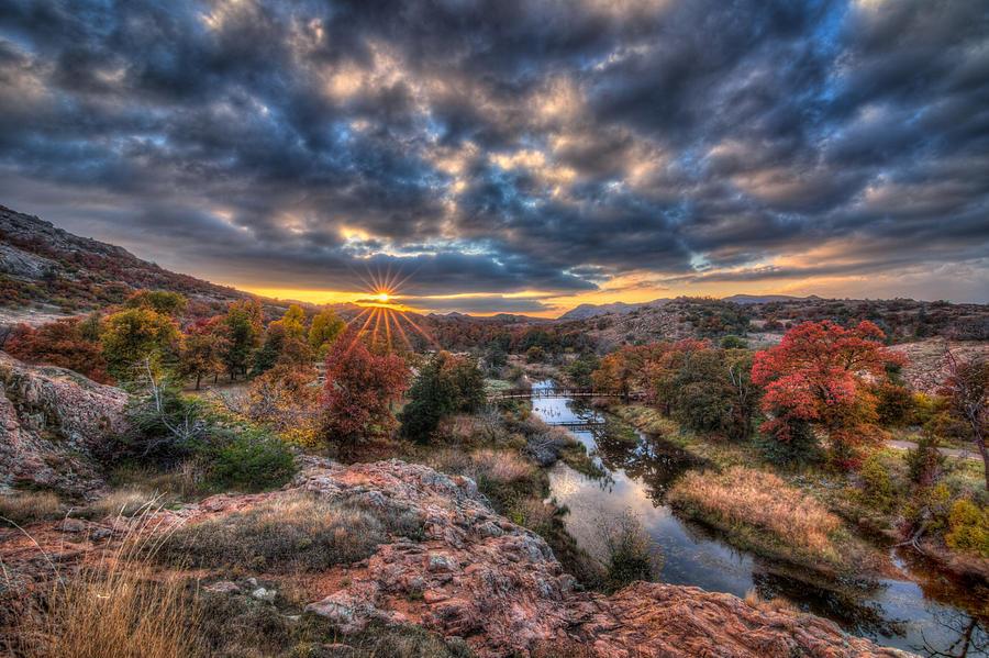 Autumn Photograph - Sunset At Sunset by Chris Martin