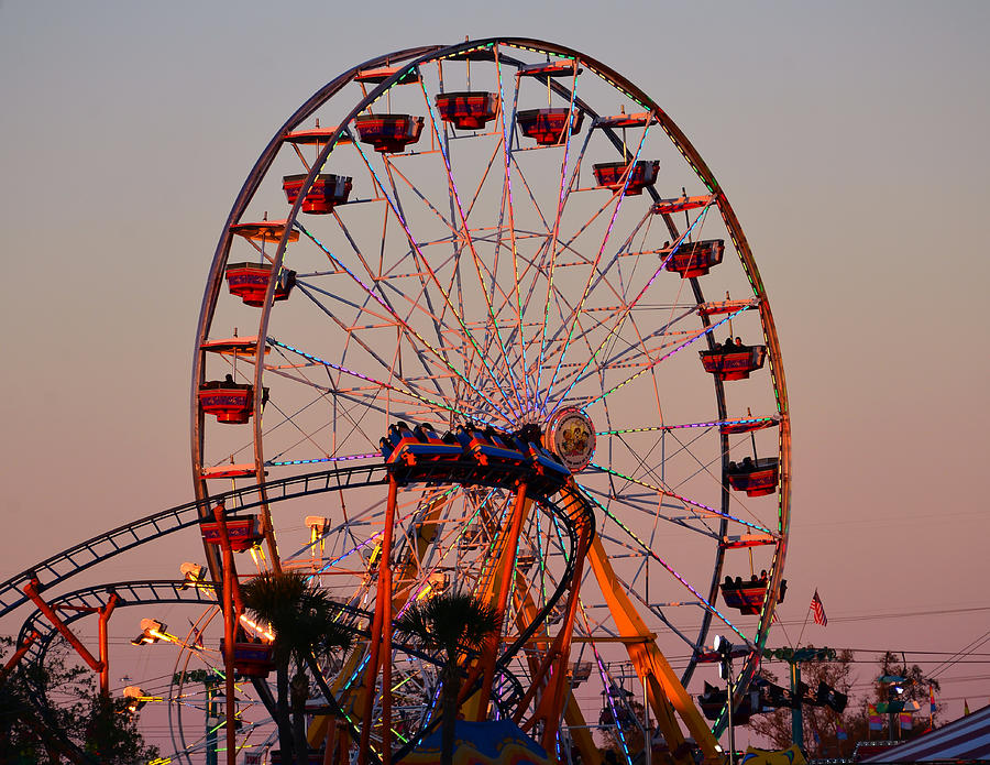 Sunset At The Fair Photograph  - Sunset At The Fair Fine Art Print