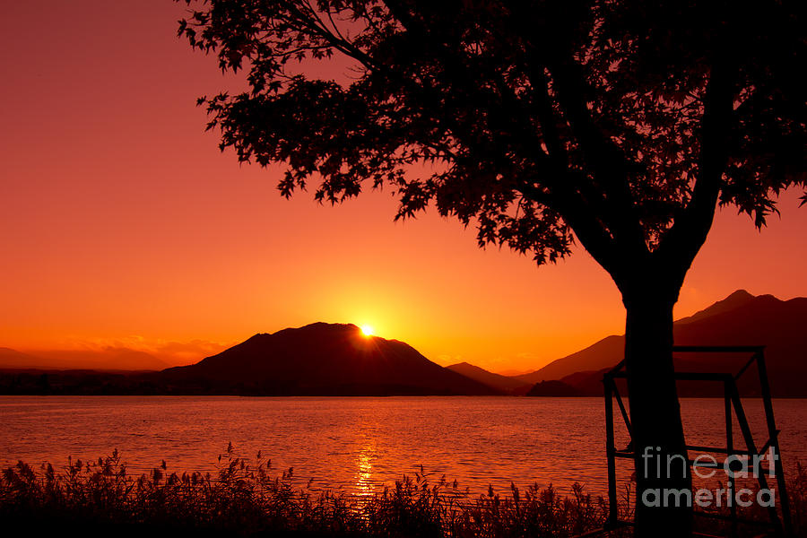 Sunset At The Lake Photograph  - Sunset At The Lake Fine Art Print