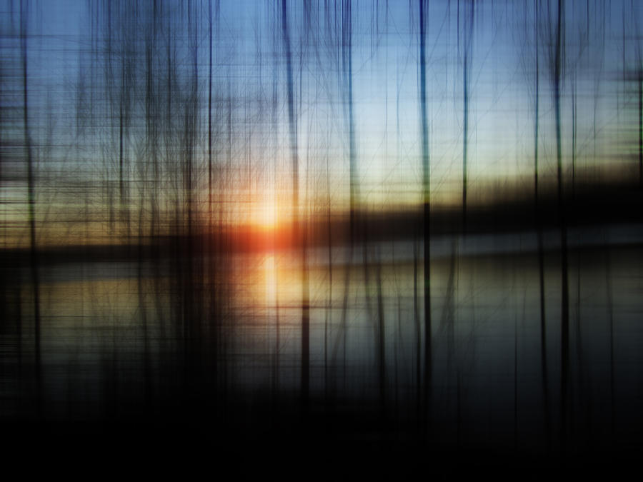 Sunset Blur Photograph  - Sunset Blur Fine Art Print