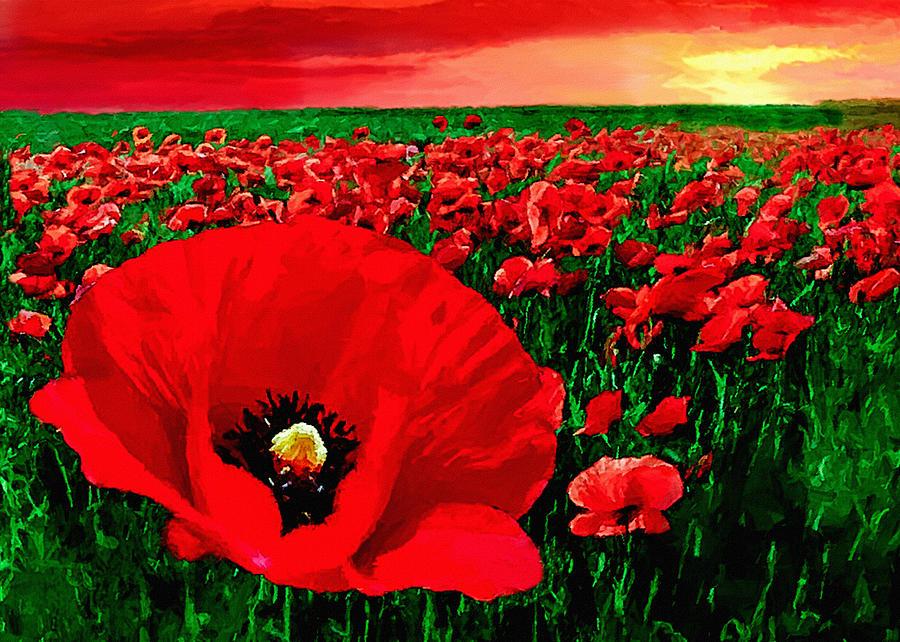 Sunset California Poppy Preserve Painting