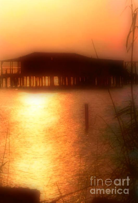 Sunset Camp On Lake Pontchartrain In New Orleans Louisiana Photograph  - Sunset Camp On Lake Pontchartrain In New Orleans Louisiana Fine Art Print