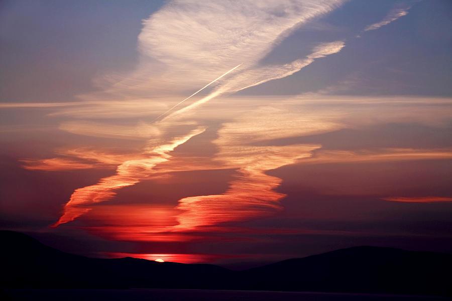 Ireland Photograph - Sunset Dance by Aidan Moran