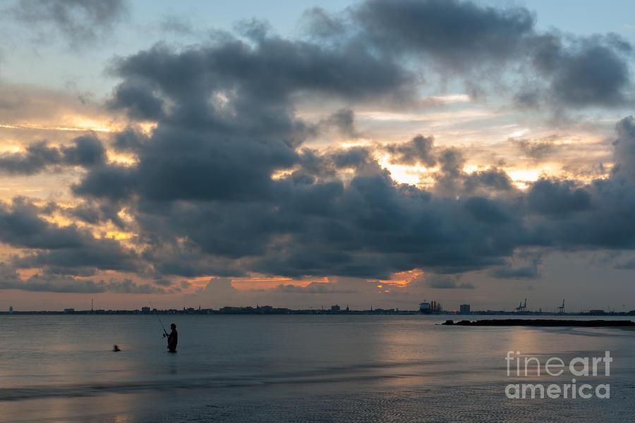 Sunset Fishing Photograph