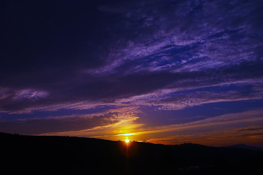 Sunset From Lyle Wa Photograph