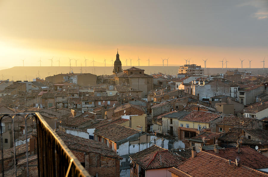 Sunset In Calahorra From The Bell Tower Of Saint Andrew Church Photograph