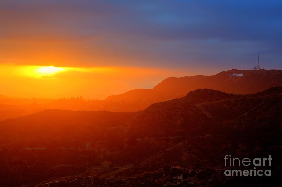 Hollywood Hills Sunset Sunset In Hollywood Hi...