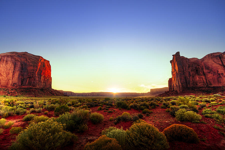 Sunset In Monument Valley Photograph  - Sunset In Monument Valley Fine Art Print