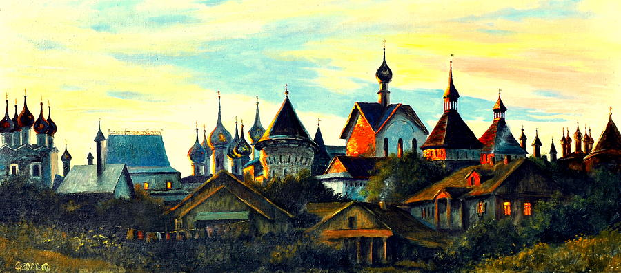 Sunset In Rostov Painting