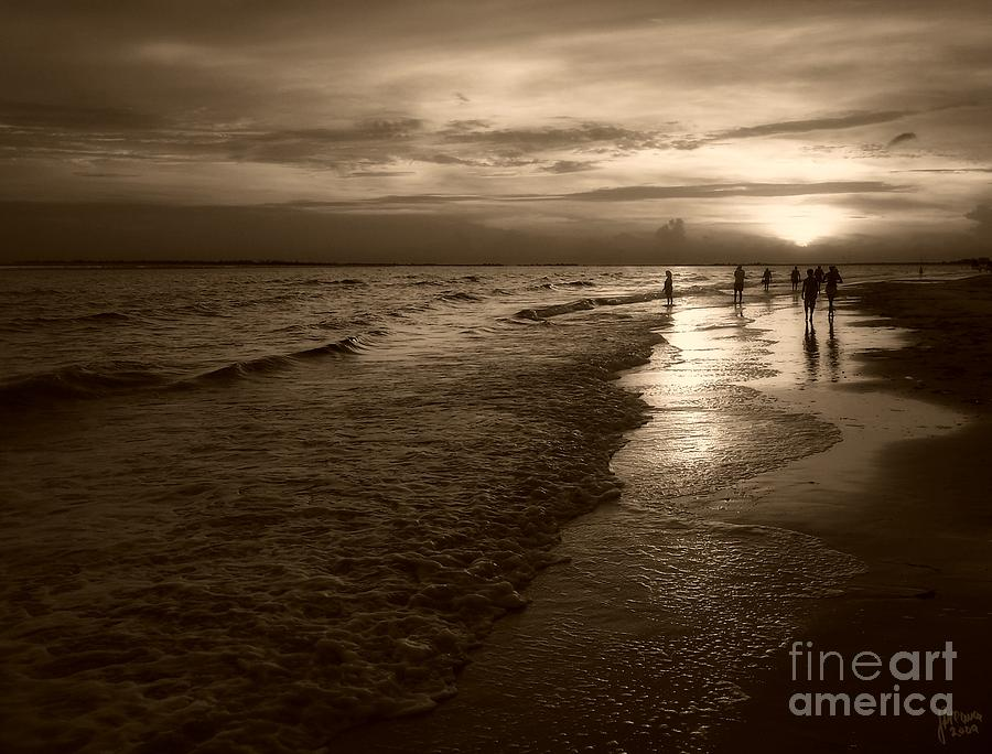 Sunset In Sepia Photograph