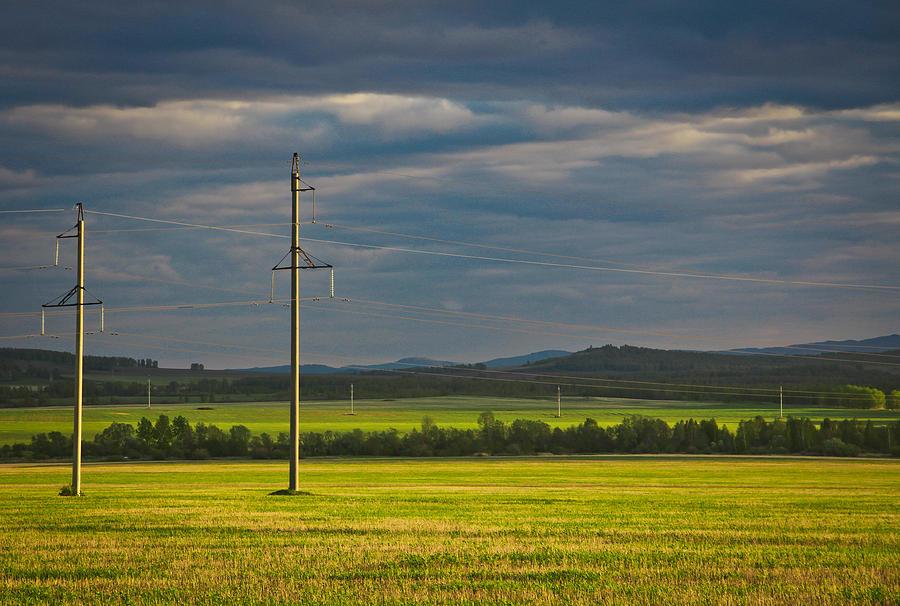 Sunset In The Fields Of Bashkiria Photograph