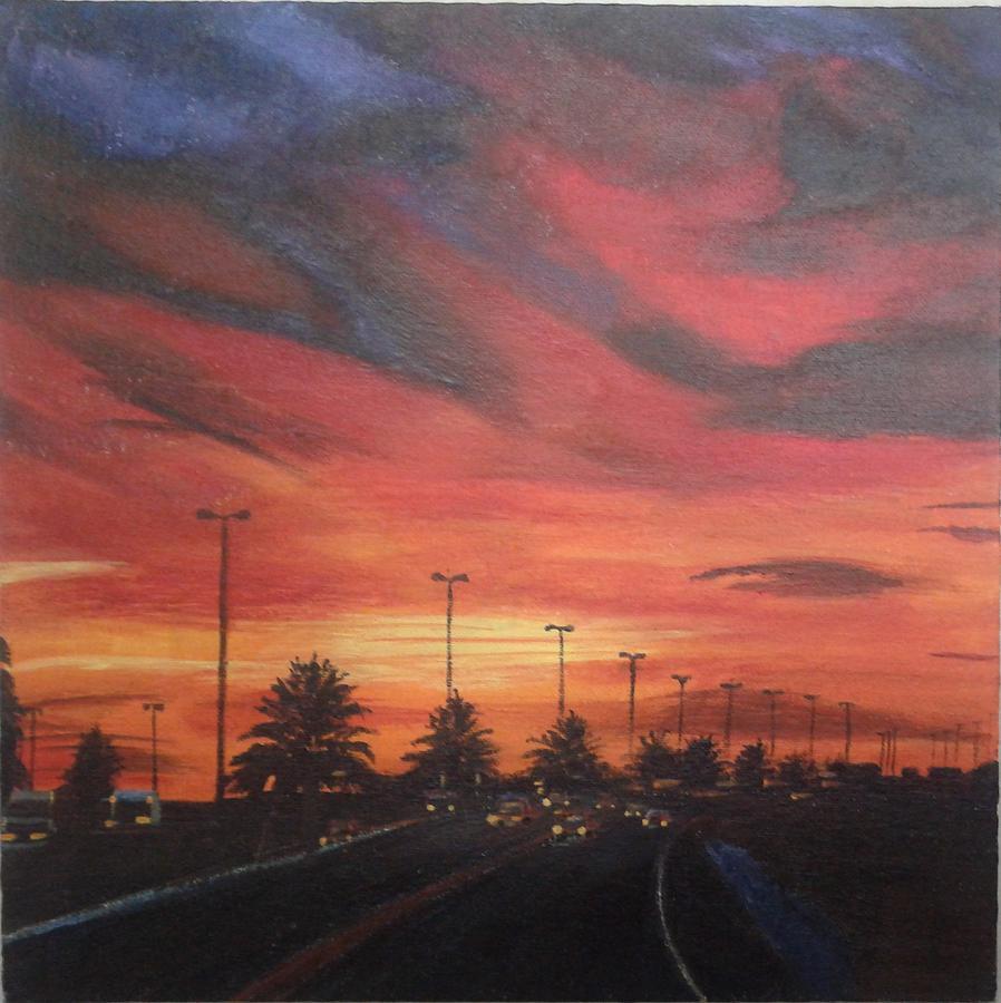 Painting - Sunset by Lupamudra Dutta