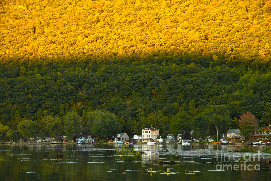 Sunset On Canandaigua Lake Photograph  - Sunset On Canandaigua Lake Fine Art Print