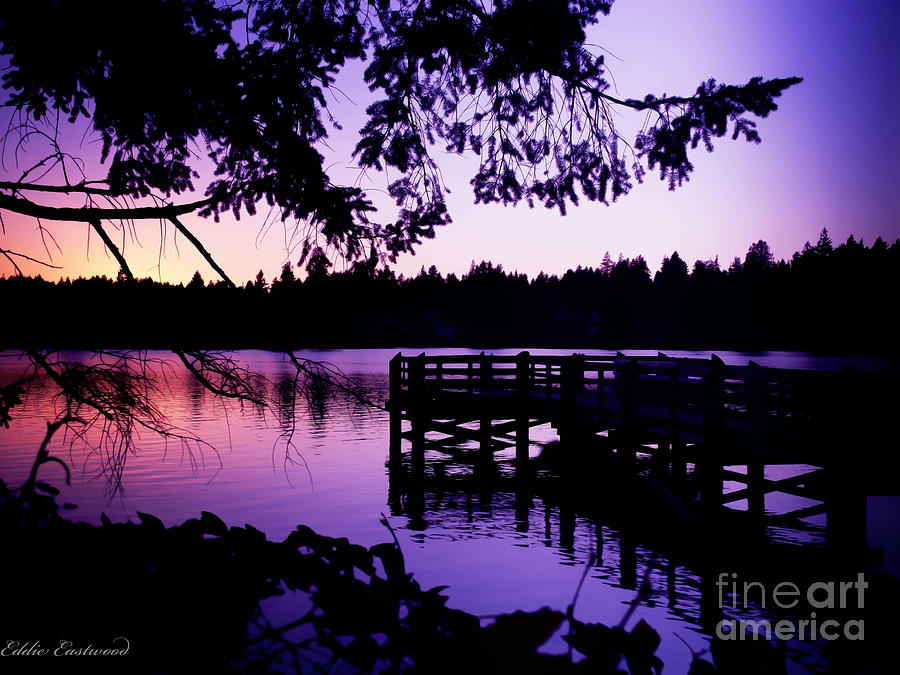 Sunset On Lake Ballinger Photograph