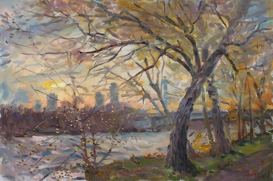 Sunset On Niagara River  Painting