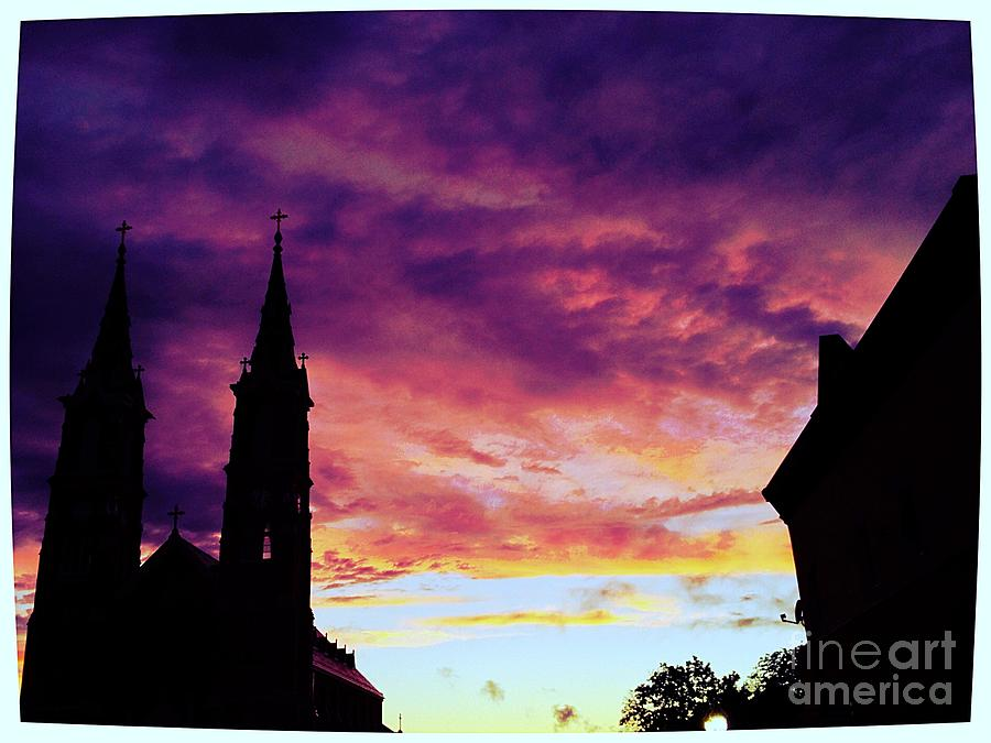 Sunset On The Basilica  Photograph