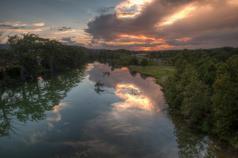Guadalupe Photograph - Sunset On The Guadalupe River by Paul Huchton