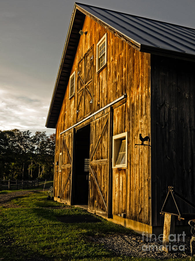 Sunset On The Horse Barn Photograph  - Sunset On The Horse Barn Fine Art Print