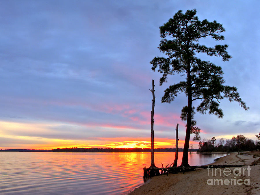 James River Photograph - Sunset On The James River by Olivier Le Queinec