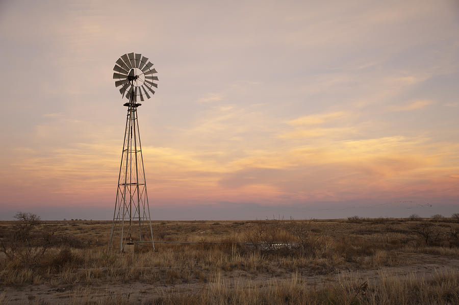 Sunset On The Texas Plains Photograph