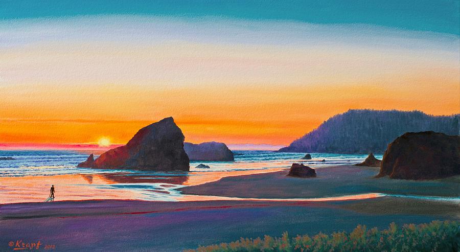 Sunset - Oregon Coast Painting