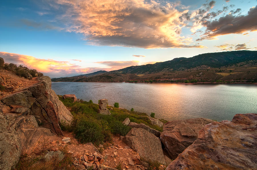 Colorado Photograph - Sunset Over Horsetooth by Preston Broadfoot