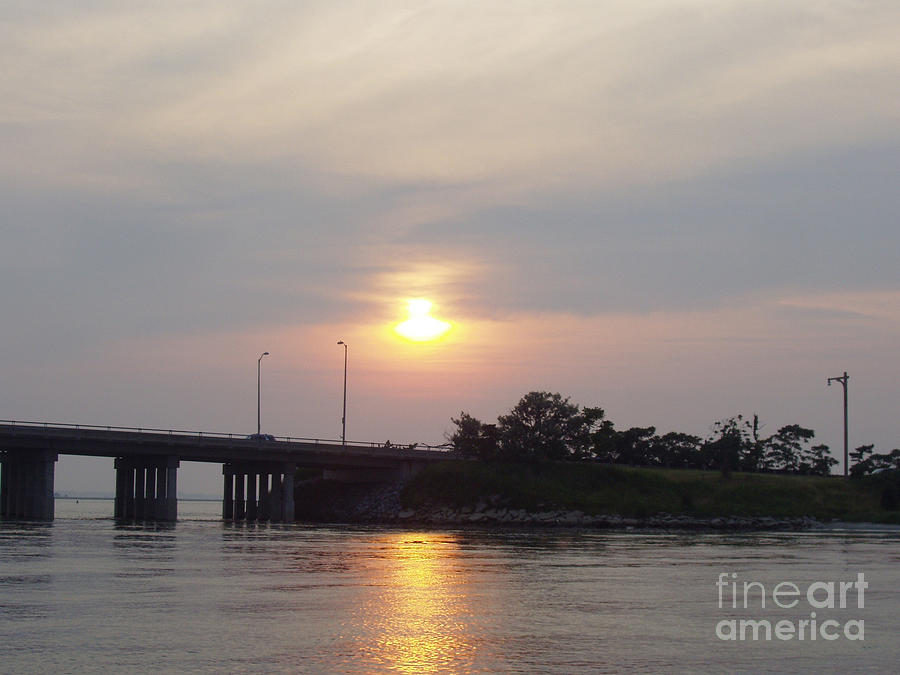 Sunset Over Meadowbrook Bridge Photograph  - Sunset Over Meadowbrook Bridge Fine Art Print