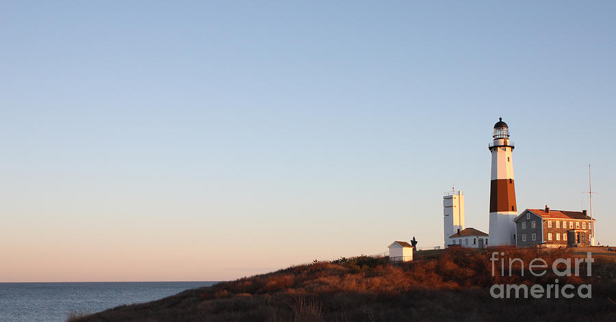 Sunset Over Montauk Lighthouse Photograph