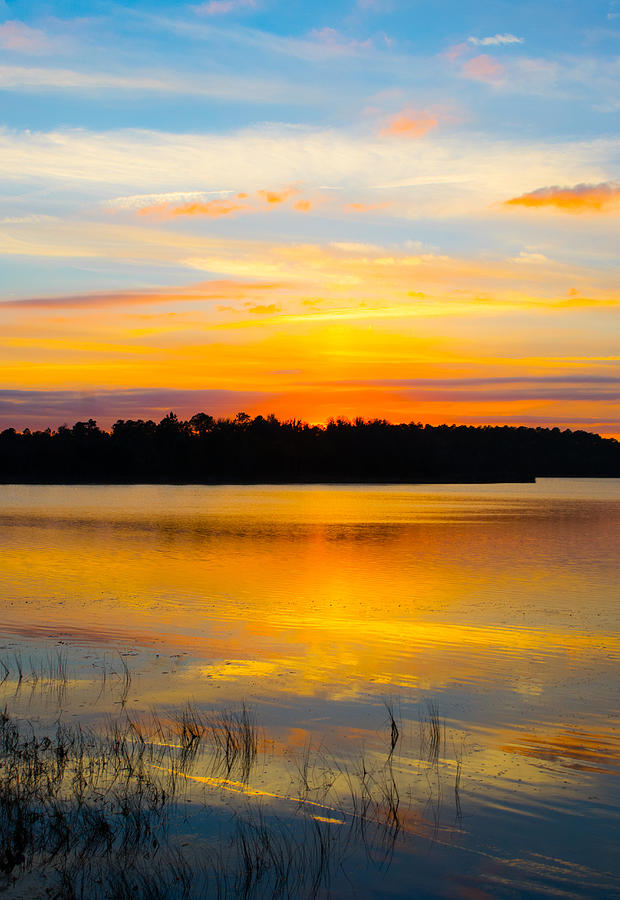 Sunset Over The Lake Photograph