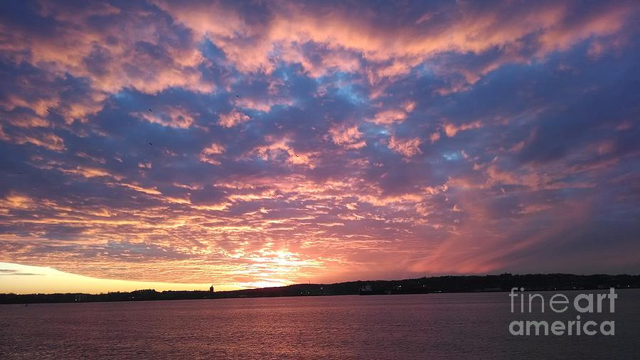 Sunset Over The Narrows Waterway Photograph