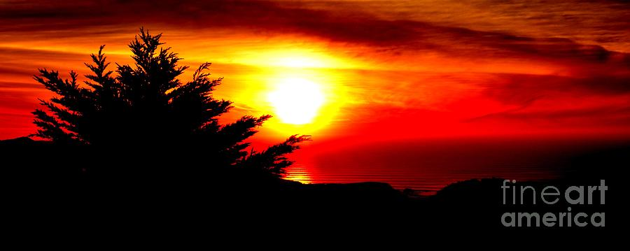 Sunset Overlooking Pacifica Ca II Photograph