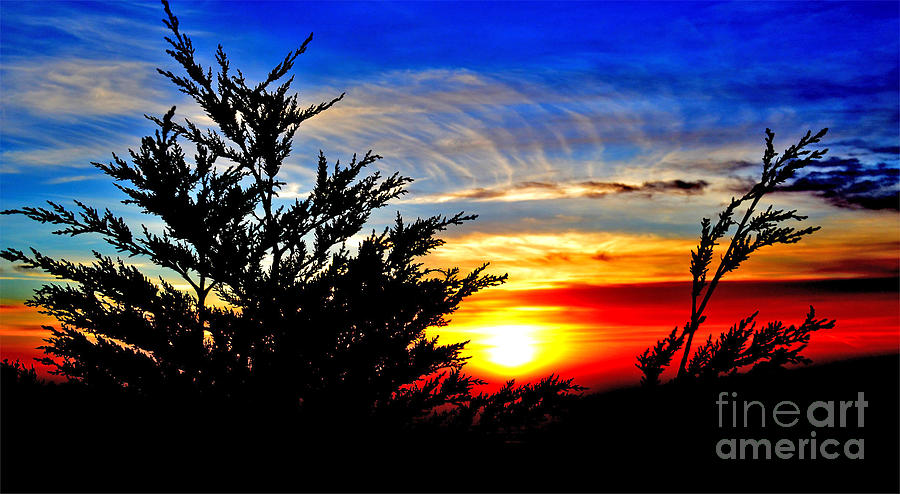 Sunset Overlooking Pacifica Ca Vi Photograph