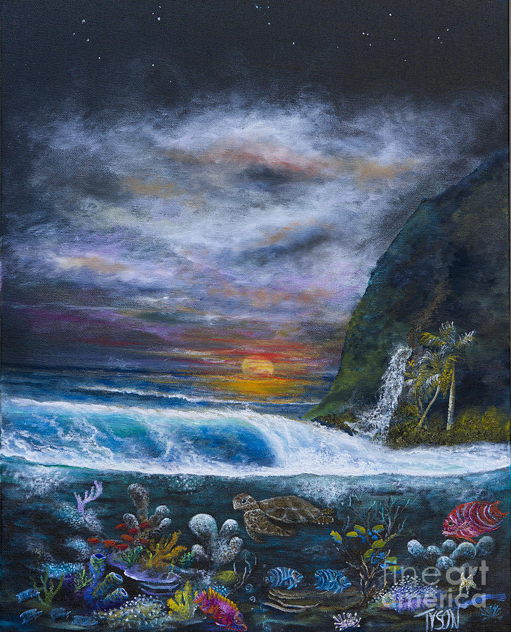 Sunset Reef Painting  - Sunset Reef Fine Art Print
