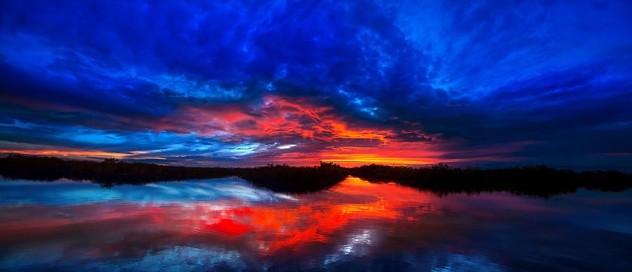 Sunset Reflections Photograph