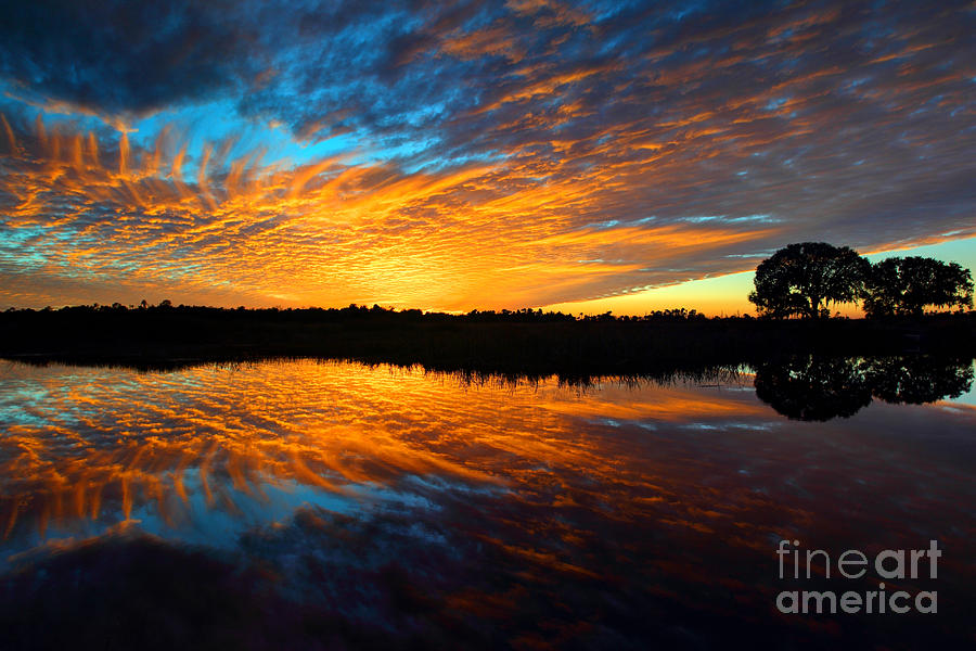 Sunset Reflections Photograph  - Sunset Reflections Fine Art Print