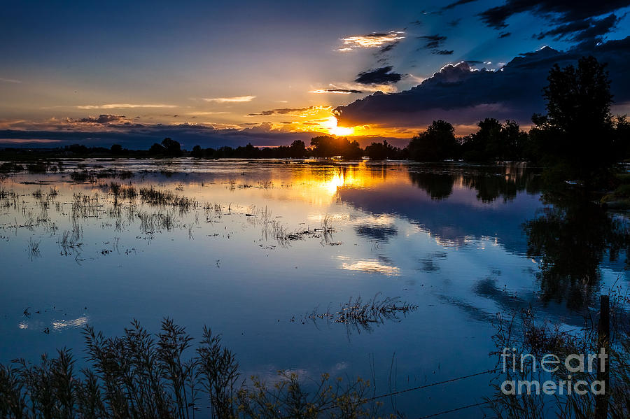 Nature Photograph - Sunset Reflections by Steven Reed