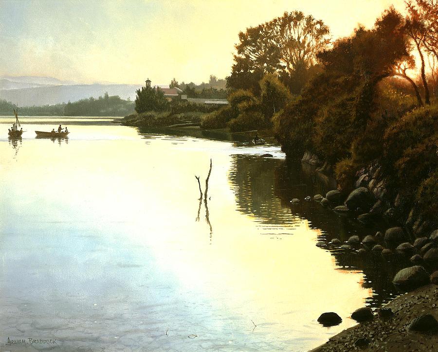 Sunset  Sea Of Galilee  Israel Painting