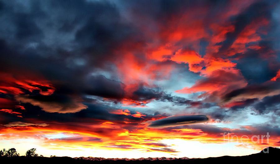 Sunset Sky Melts Into The Sangre De Cristo Mountains Photograph