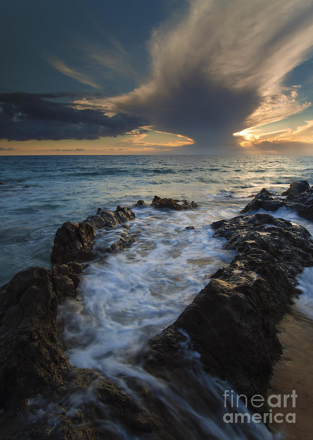 Kihei Photograph - Sunset Spillway by Mike  Dawson